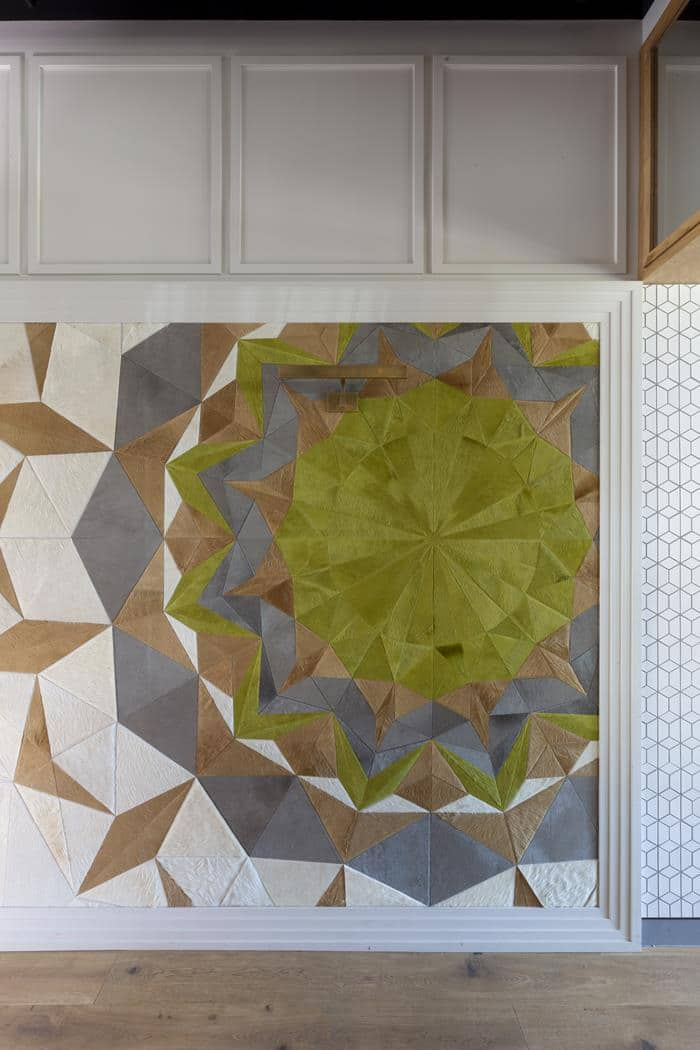 park james fabric wall geometric detail
